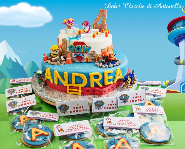 paw patrol-torte-biscotti-dolci-cake design-la spezia-liguria-bimbi