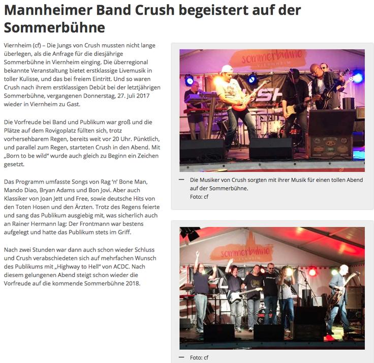 Viernheimer Nachrichten, 31.07.2017