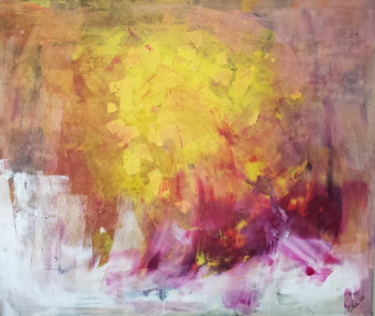 E(xen)3, Artigkeit, Claudia Karrasch, Bonn, Mixed Media, Leinwand, 130 x 110 cm