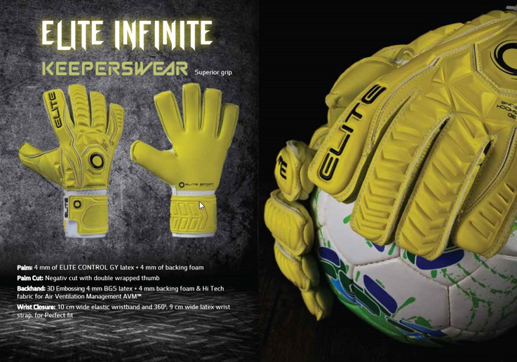De Elite Sport Infinite voetbal handschoen