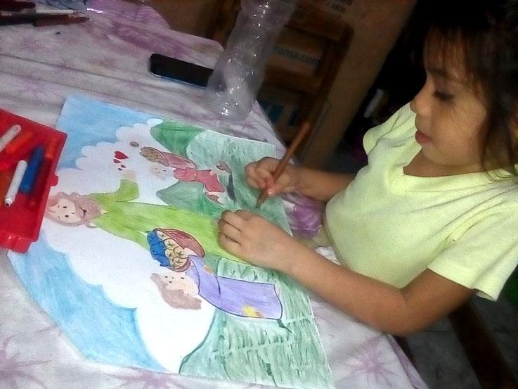 """""""Nur"""" ein Bild malen - auf der Isla Trinitaria ist dies ein Geschenk für die Kinder"""
