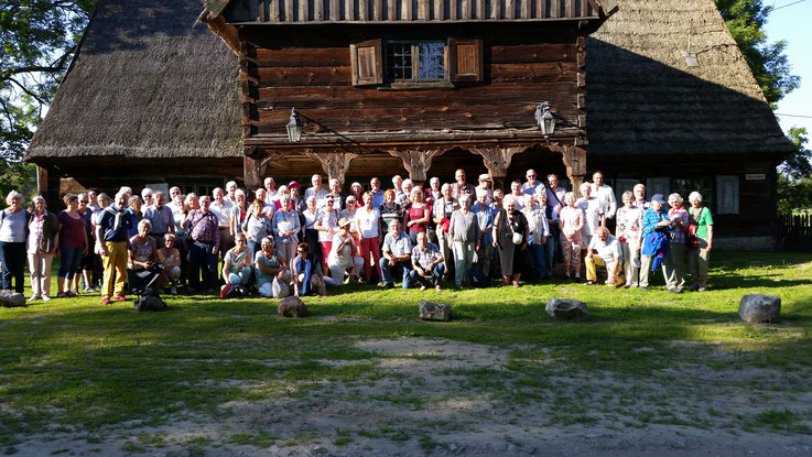 Mennonitisches Vorlaubenhaus in Crystkowo, Treffen mit der Gruppe aus Holland