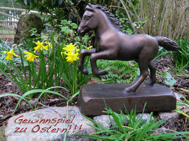 Gewinnen können Sie diese Skulptur in Antikbronze-Optik (Metallhaltige Farbe) im Wert von 198 €!