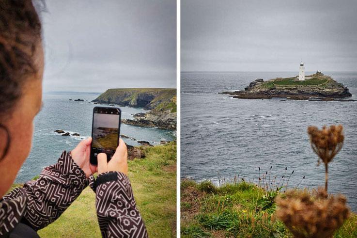Die wilde Küste in Cornwall
