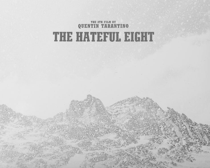 クエンティンタランティーノ  ヘイトフルエイト パンフレット裏面 60mmシネスコ 映画
