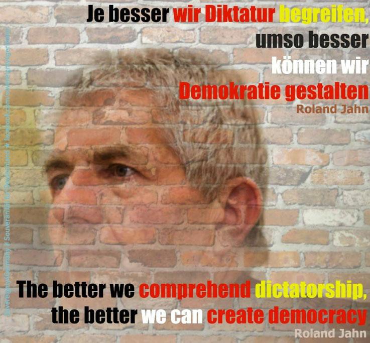 Roland Jahn Demokratie Diktatur