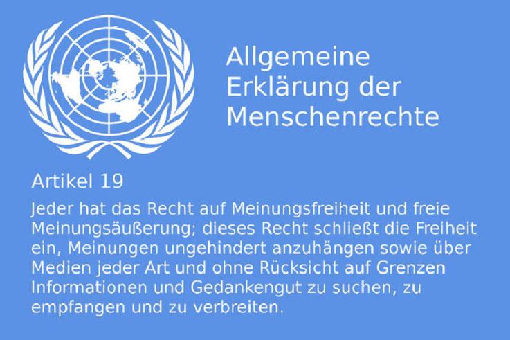 Menschenrechtserklärung Meinungsfreiheit Meinungsäußerung Bild