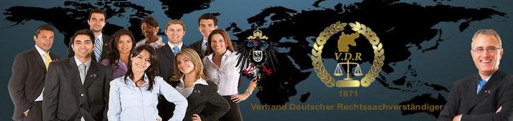 Verband Deutscher Rechtssachverständiger VDR Logo