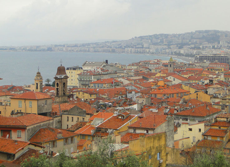 Above Nice's roofs