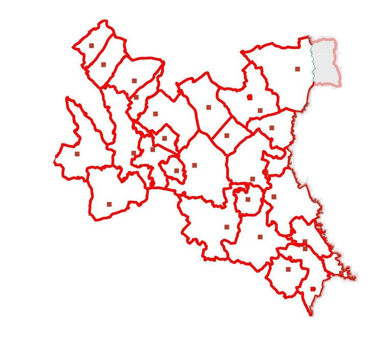 Löschbereichskarte - Bereichsfeuerwehrverband Fürstenfeld