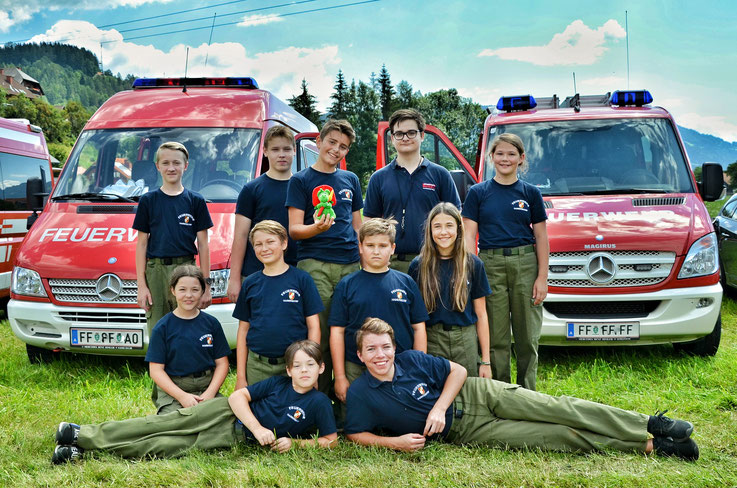 FF Jugend Hainersdorf beim Landesfeuerwerhjugendbewerb in St. Peter am Kammersberg