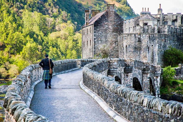 Schloss in den schottischen Highlands