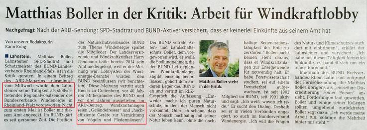 Rhein-Lahn-Zeitung v. 07.08.2015