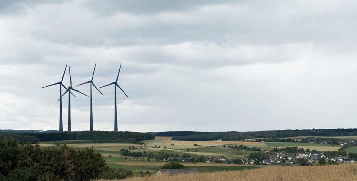 Visualisierung der Windräder in Himmighofen