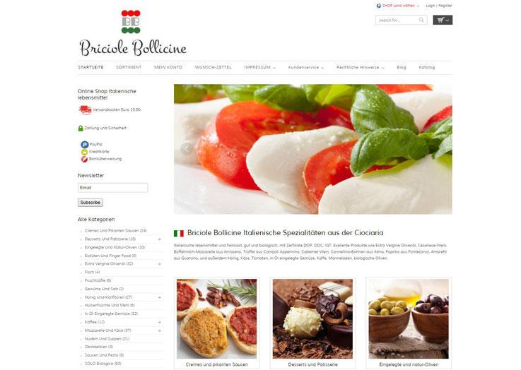 Homepage Briciole Bellicinie