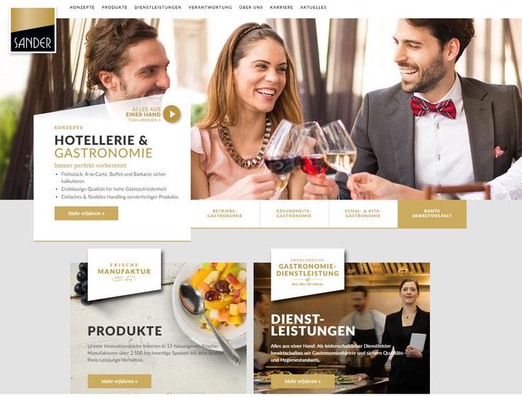 Homepage Sander Gourmet