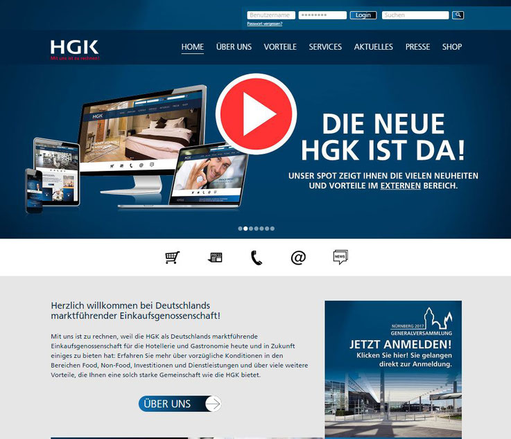 Homepage HGK