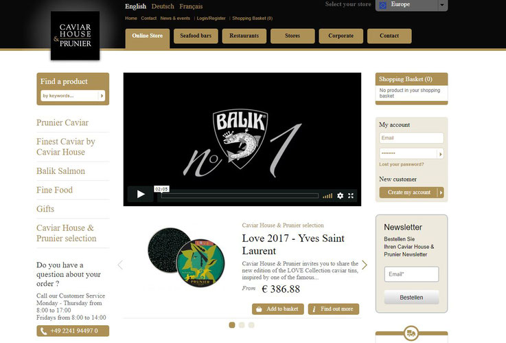 Homepage Caviar House & Prunier