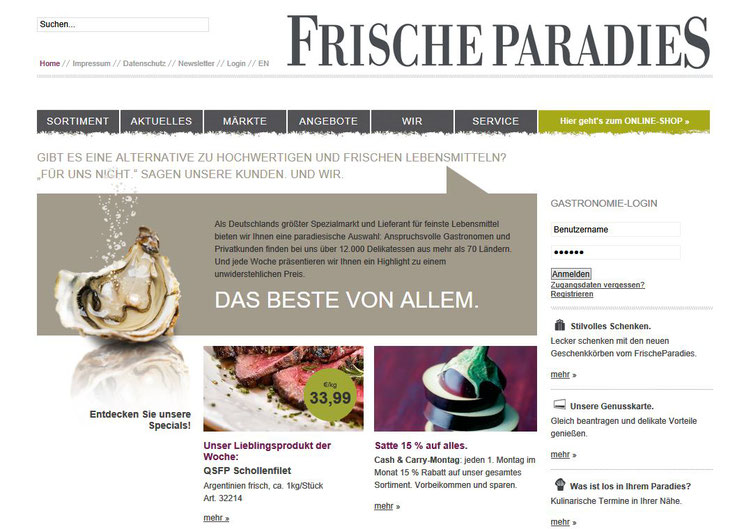 Homepage Frische Paradies