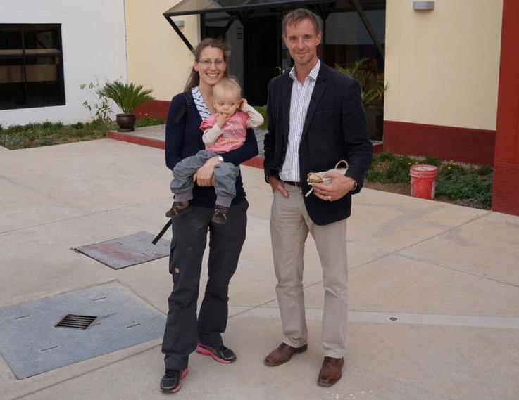 Sonja Keßler aus Heidelberg und Christian Bigalke von dem Colegio Diospi Suyana in Peru, der Schule, an der Sonja arbeiten wird