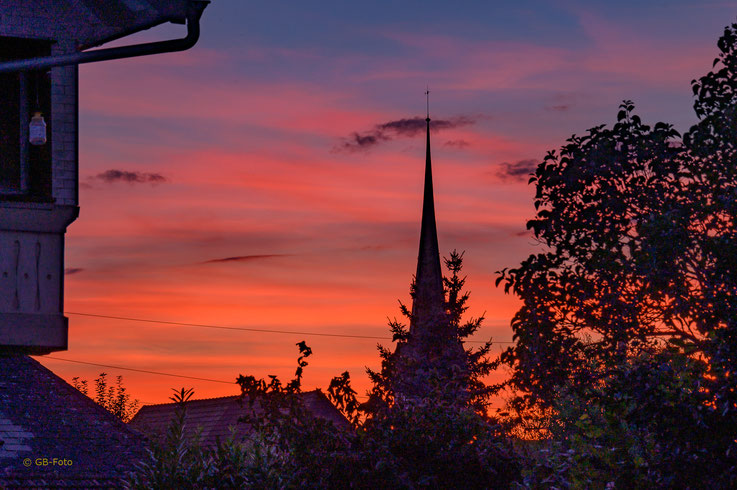 Abendrot in Rohrbach