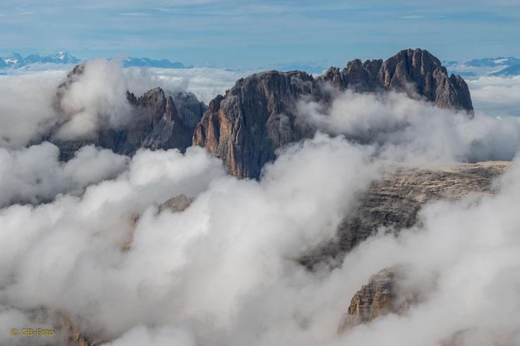 Langkofel von Wolken umgarnt