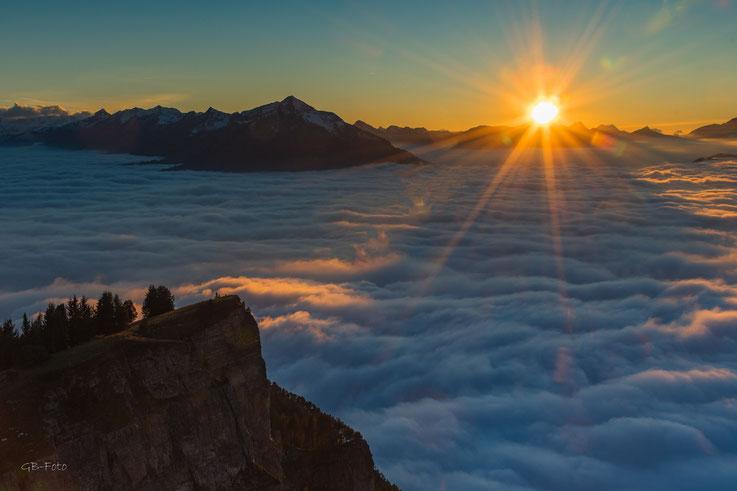 Sonnenuntergang auf dem Niederhorn