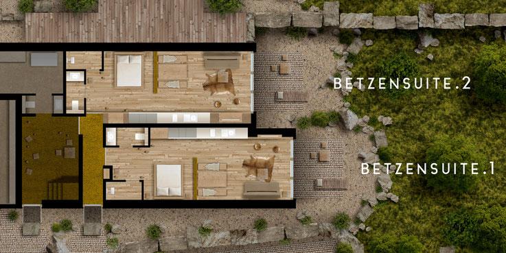 Grundrisse der exklusiven Bio-Design-Apartments