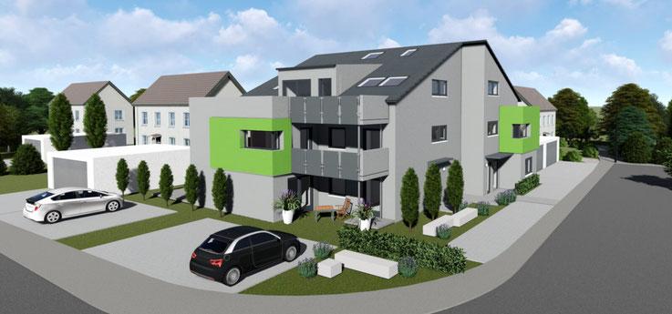 Königsberger Wohnquartier in Kirchberg in der Gesamtansicht, Animation