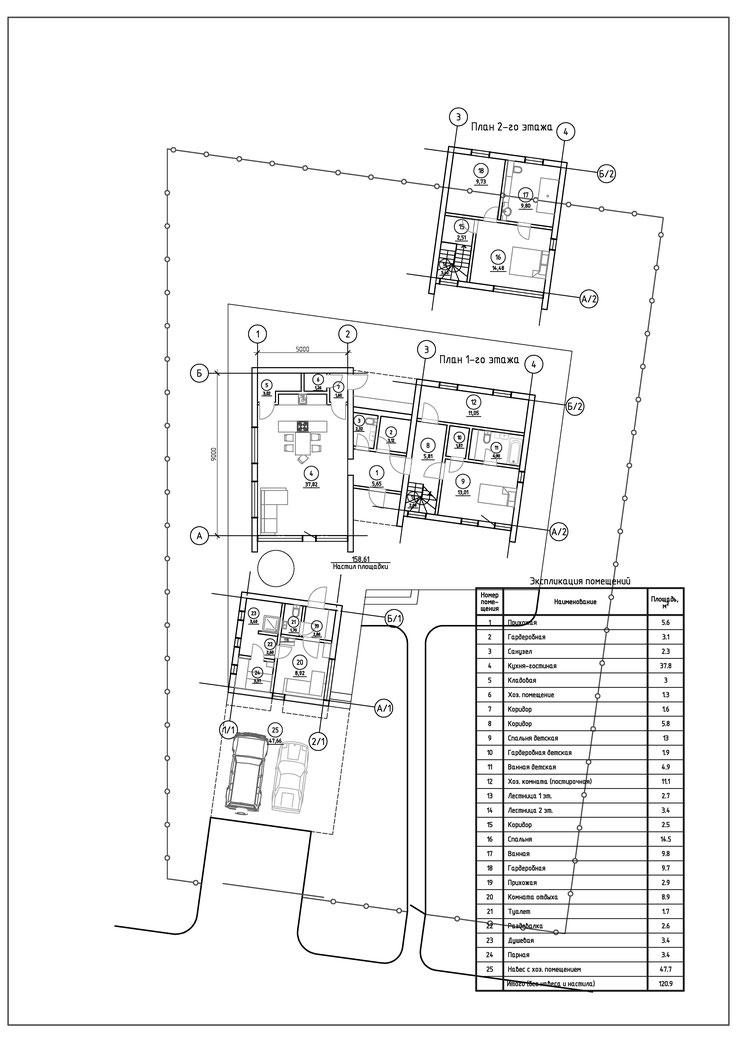 ДП Большая медведица коттедж, экостиль, план участка