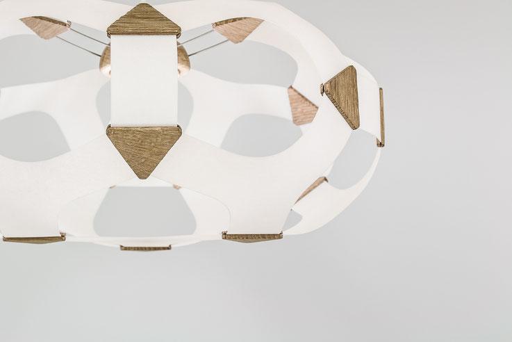 luminaire design papier bois alveole