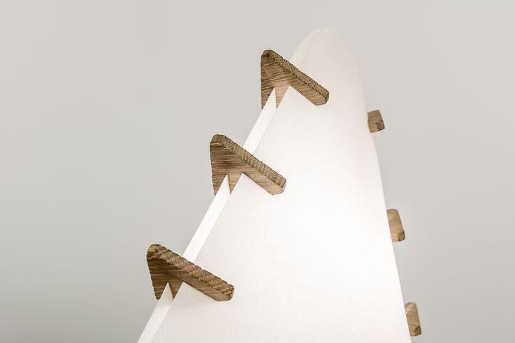 Lampe mw design original bois papier inox Dandine Mathieu Widloecher