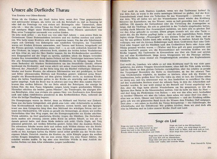 Abdruck aus einem Kreisblatt der Kreisgemeinschaft Pr. Eylau mit freundlicher Genehmigung des Schriftleiters