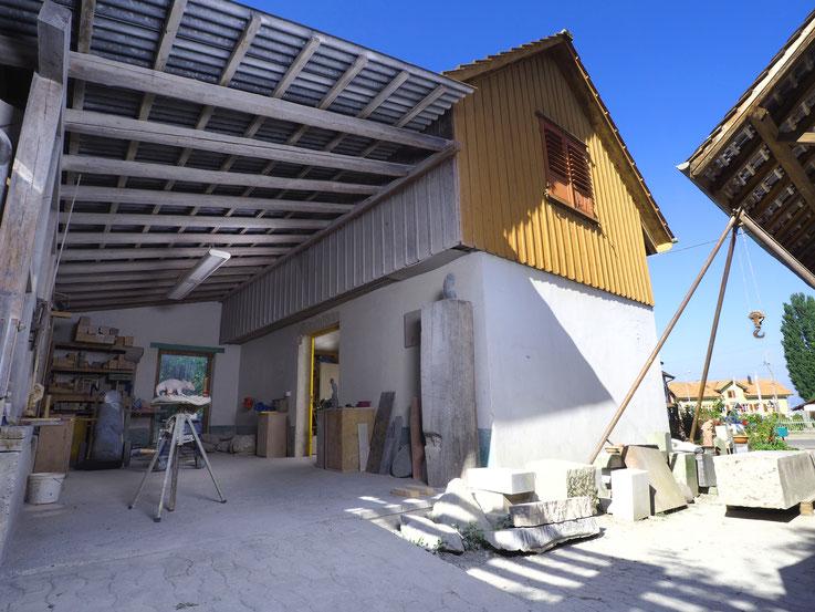 Bildhauerwerkstatt/ Bildhaueratelier/ Stein Bearbeitung/ Künstler Studio