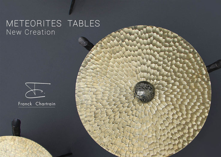 Meteorites Tables Franck Chartrain Collection