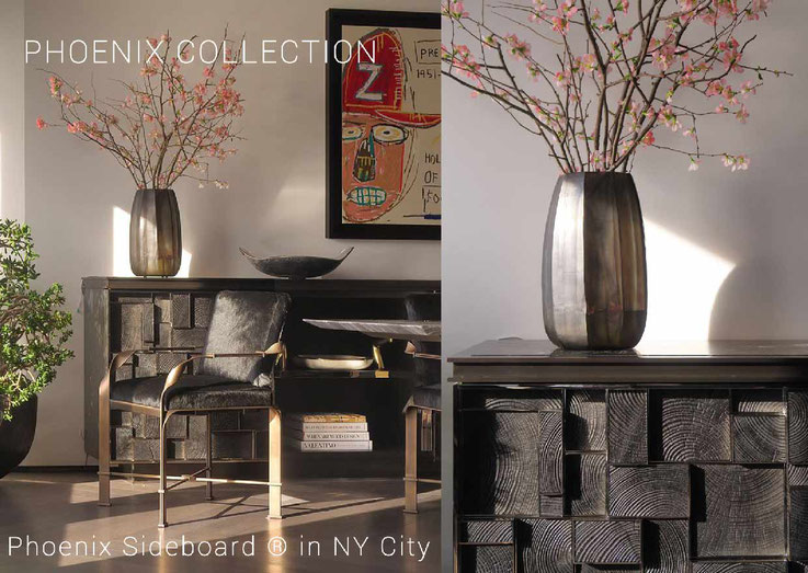 Beautiful private residence in NY-City with the Phoenix Sideboard ® / Magnifique intérieur d'un particulier à New York avec L'enfilade Phoenix ® photo : Durston Saylor , Interior designer : Orsini Design Associates