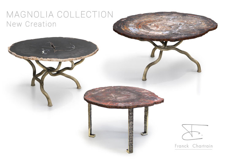 Here are the new Magnolia tables ® /  Voici en présentation exclusive les nouvelles tables Magnolia ®