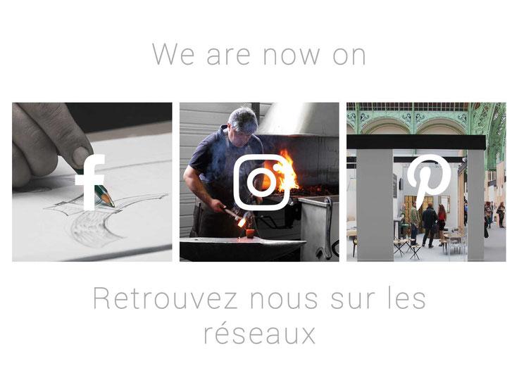 We are now on social networks / Retrouvez nous sur les réseaux en bas de page