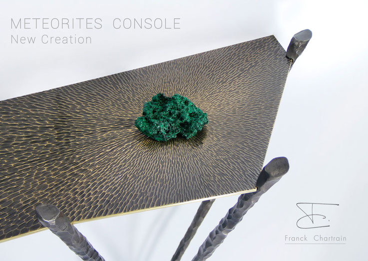 Meteorites Console Franck Chartrain Collection