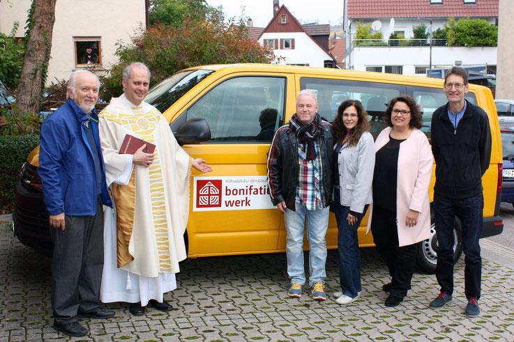 Herbert Böhm, Pfarrer Mette, Werner Kusterer, Martina Peter, Stefani Dührkop, Freddy Müller (fehlt: Wolfgang Hans)