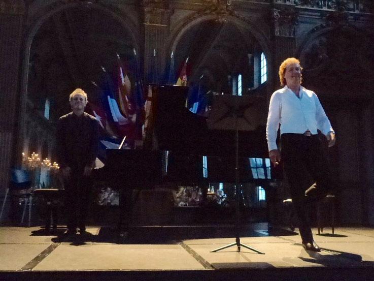 """21 juillet 2016 : Lieder de Schumann dans le cadre des """"Nuits romantiques"""" à Nancy. Piano : David Selig. Crédit photo : Daniel Eugé"""