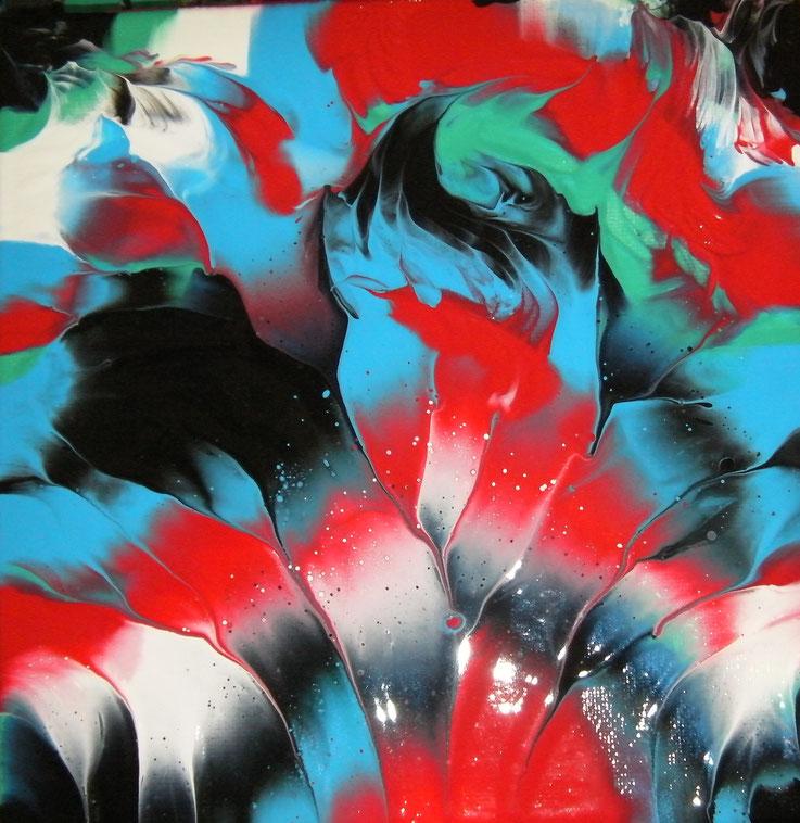 "FLIGHT OF FANCY (133c) | Acrylic on 8"" x 8"" canvas | Gloss Varnish finish | £30 incl. p&p (UK only)"