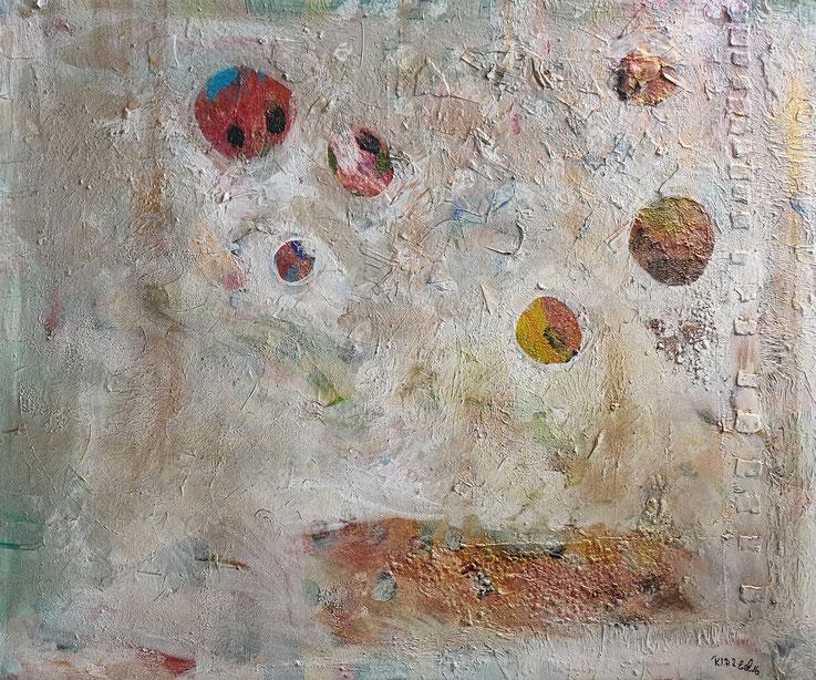 E(xen)4, Artigkeit, Claudia Karrasch, Bonn, Mixed Media, Leinwand, 130 x 110 cm