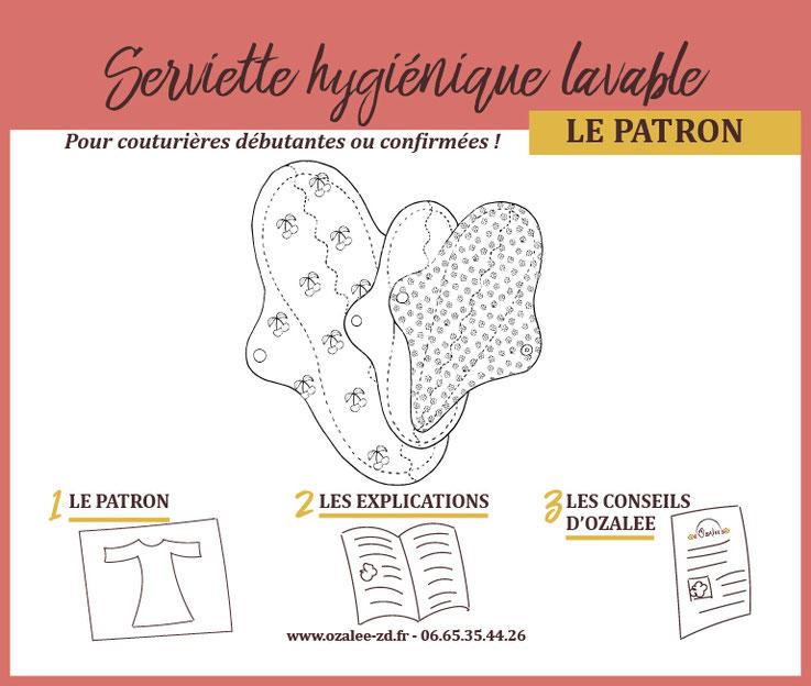 patron de couture pour créer une serviette hygiénique lavable
