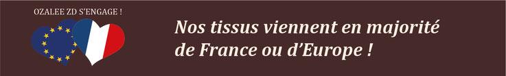 made in France : tissus français et européens