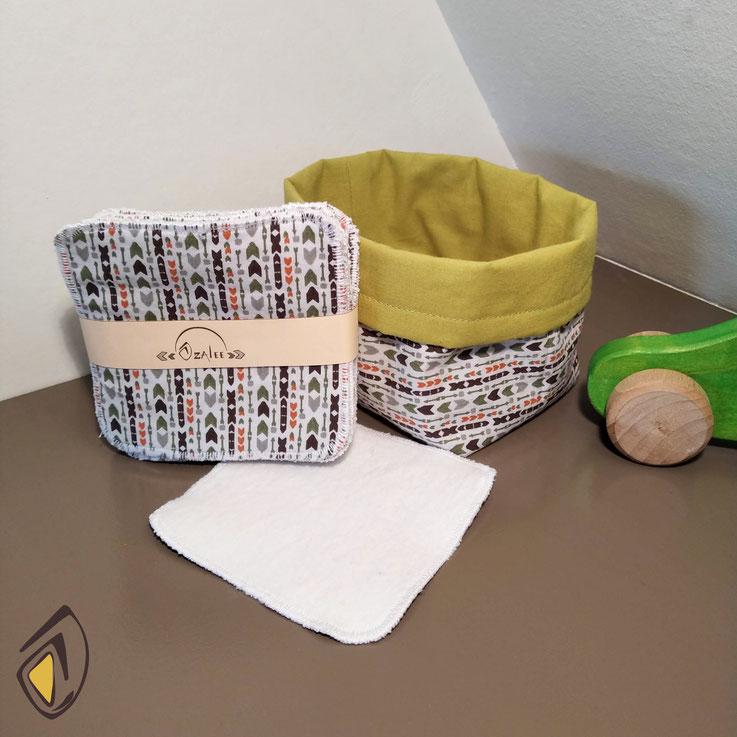 carrés bébé lavables et réutilisables