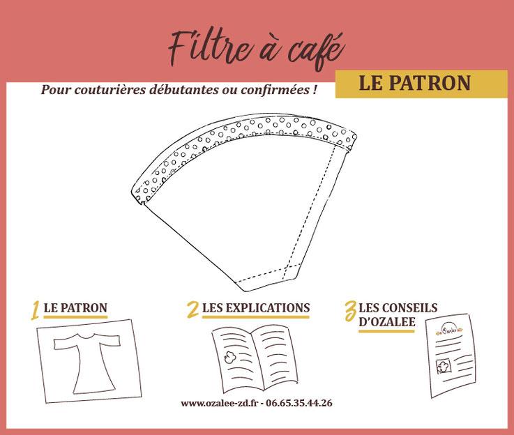 patron de couture pour créer son filtre à café lavable