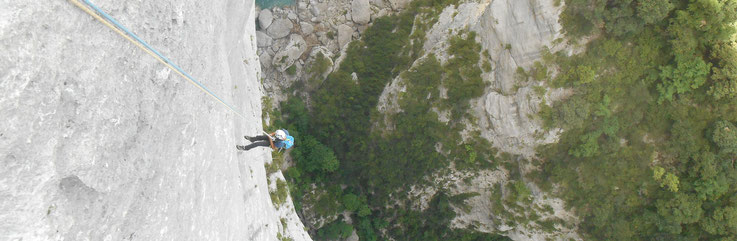 grimpeur rappel verdon  grande-voie