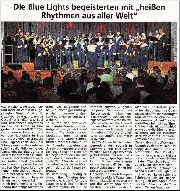 Pressetext mit Bild zum Konzert am 17.12.2016