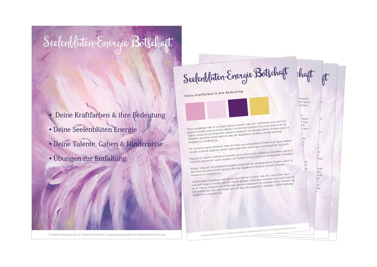 Seelenblüten-Energie Botschaft